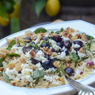 Orzo, Grape, Feta Salad