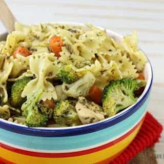 Chicken Pesto Pasta Salad.