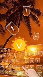 Summer 2D Keyboard - náhled