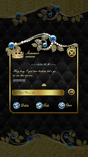 免費下載個人化APP|GO SMS DIAMOND GOLD THEME app開箱文|APP開箱王