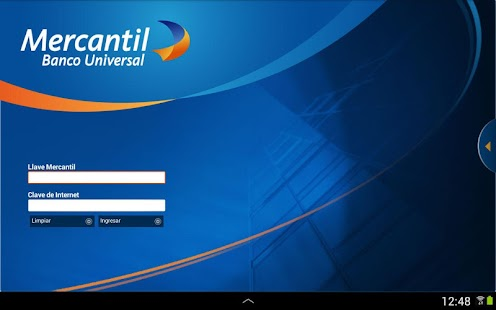 Mercantil Banco Screenshot