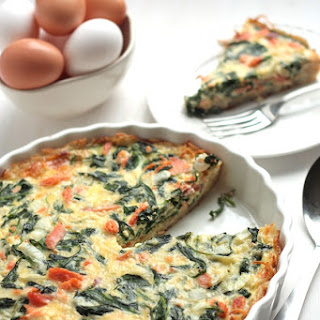 Smoked Salmon and Spinach Hashbrown Quiche & 13-cup KitchenAid Food Processor GIVEAWAY!