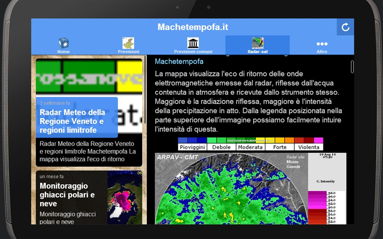 Machetempofa.it- screenshot