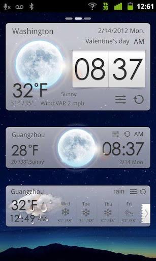 GO Weather EX Theme White screenshot 1