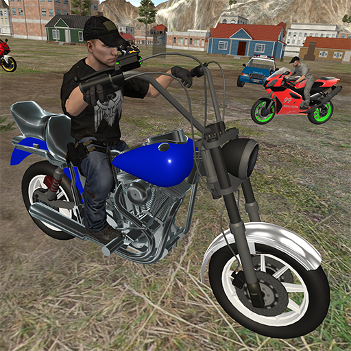 Condução de motocicleta-Jogo da polícia