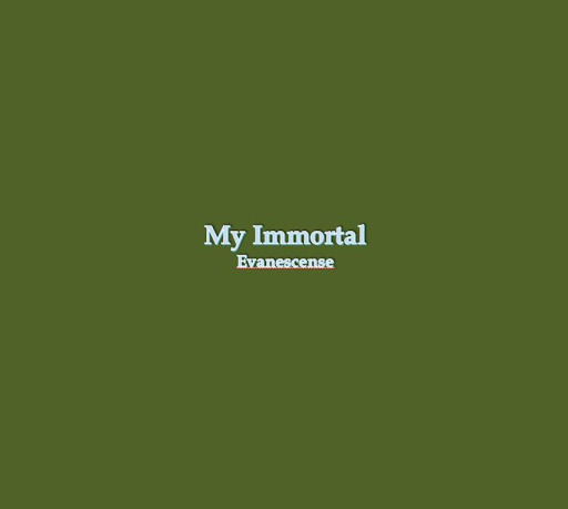 My Immortal Lyrics