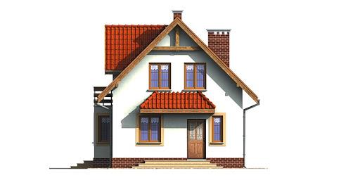 Dom przy Kalinowej - Elewacja przednia