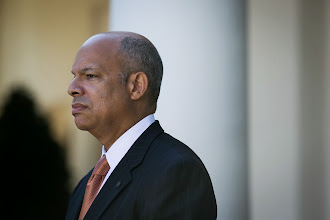 Photo: WASHINGTON, DC - OCTOBER 18: Jeh Johnson looks on as U.S. President Barack Obama introduces him as his nominee to be the next  Secretary of the Department of Homeland Security, in the Rose Garden of the White House, October 18, 2013 in Washington, DC. The Department of Homeland Security has been without a Senate-confirmed leader for six weeks. (Photo by Drew Angerer/Getty Images)