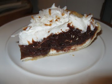 Chocolate Coconut Cheese Pie Recipe