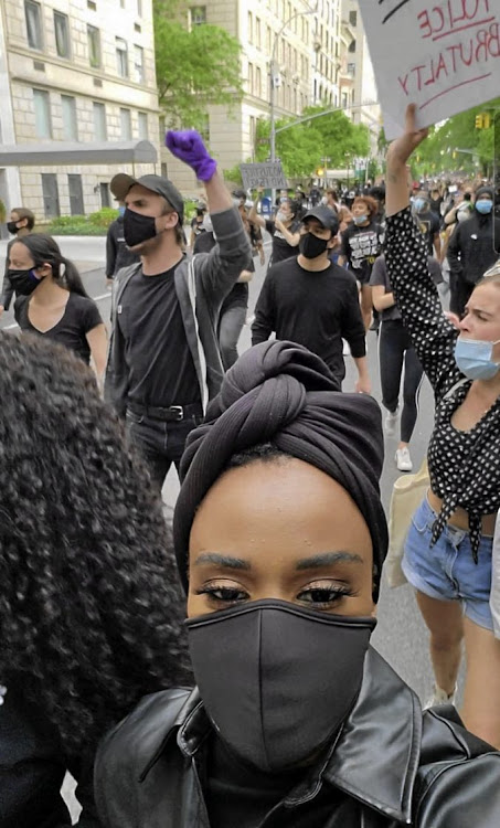Zozi Tunzi joined a recent Black Lives Matter protest.