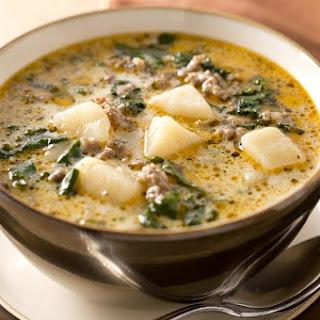 Italian Sausage Potato Soup.