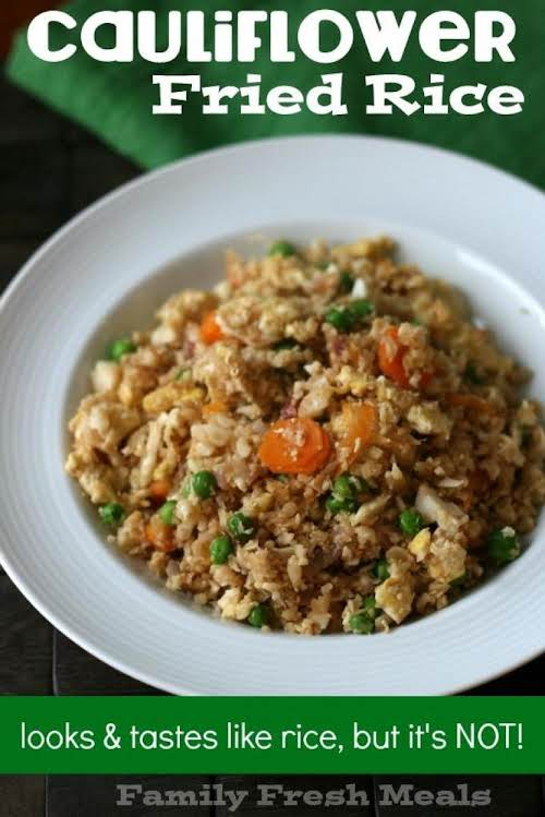 """Click Here for Recipe: Cauliflower Fried Rice """"I am happy to report..."""