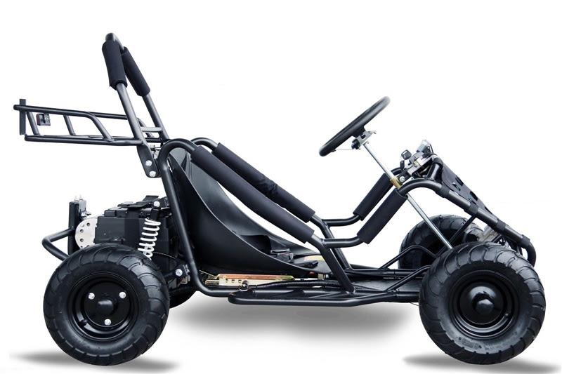 1000w Kids Junior electric go kart cart buggy single seat teenagers Black
