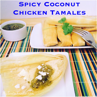 Spicy Coconut Chicken Tamales