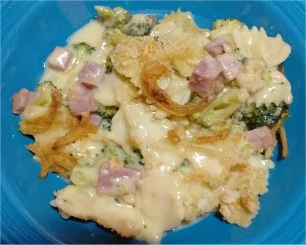Cheesy Ham & Broccoli Pasta Casserole Recipe
