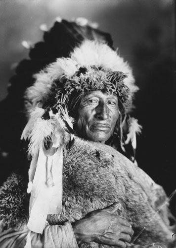 Photo: One Bull (a nephew of Sitting Bull) - Hunkpapa - circa 1920