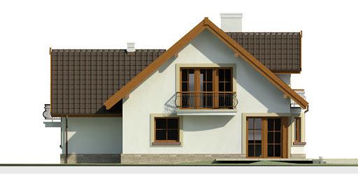 Dom przy Cyprysowej 14 - Elewacja tylna