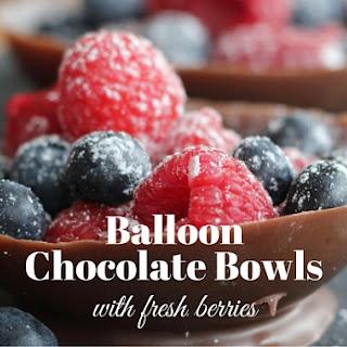 Balloon Chocolate Bowl with Fresh Berries.