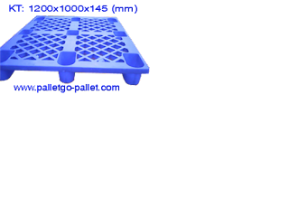 Photo: Thông tin về sản phẩm pallet nhựa KT 1200x1000x145 (mm) màu xanh Số lượng có hạn ai nhanh chân mua được về mà dùng nhé
