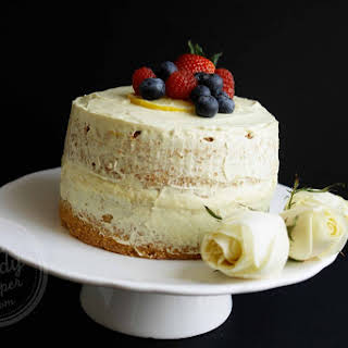 Olive Oil Lemon Sponge Cake With Dairy-free Custard (low Gluten, No Wheat, Low Sugar, Dairy-free, Wholegrain).