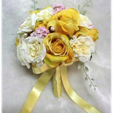 黃玫瑰絲花花球