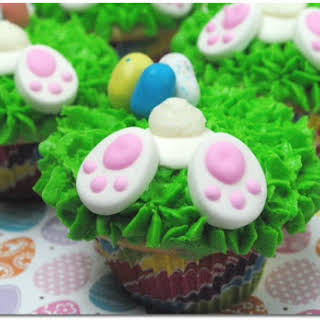 Bunny Butt Cupcakes for Easter.