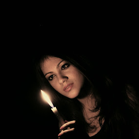 Beauty exposed with candle  by Ashraf Robin - People Portraits of Women
