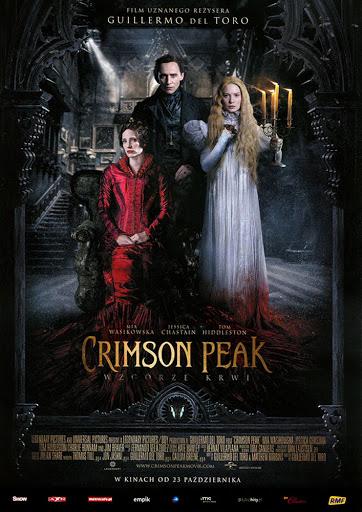 Przód ulotki filmu 'Crimson Peak. Wzgórze Krwi'