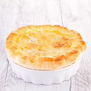 Mushroom Pot Pie with Flaky Crust (Meatless Recipe)