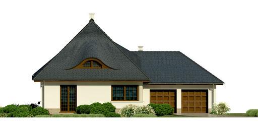 Dom przy Malowniczej 2 - Elewacja przednia