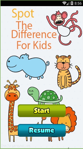 Spot the difference for kids