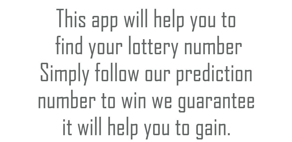 Download L S- Lottery Number Predictor APK latest version app for