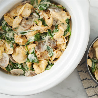 Slow-Cooker Spinach-Mushroom Tortellini.