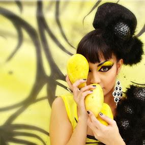 yellow and black by Banggi Cua - People Fashion