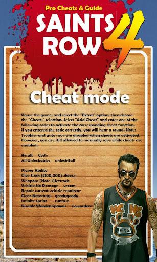 Pro Cheats - Saints Row 4 Edn.