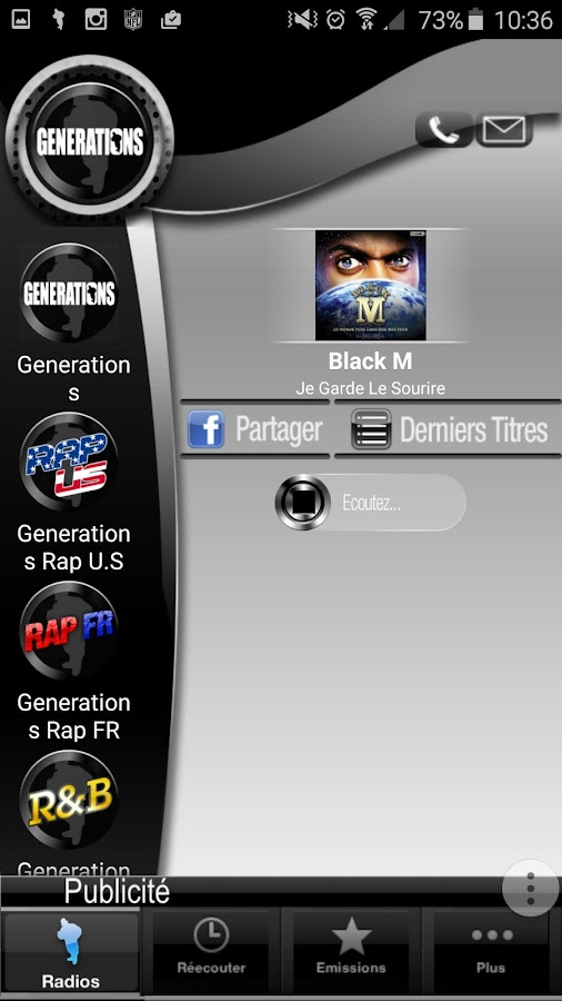 Générations hip hop rap radios- screenshot