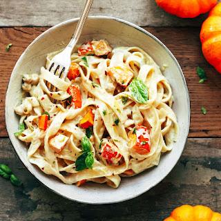 Pumpkin & Chickpea Pasta with Creamy Miso Sauce Recipe