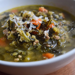 Lentil Soup With Ground Turkey and Kale