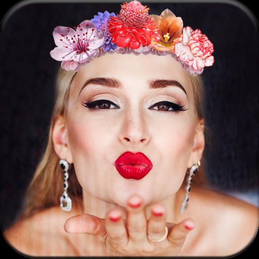 Wedding Flower Crown Photo Editor Icon