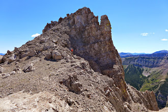Photo: 2014 - Tim ascends from the couloir to the plateau.