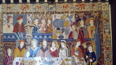 Photo: Brazilian handiwork in the Grand Hall. Was purchased for the school by Brazilizan missionaries and depicts the marriage at Cana.