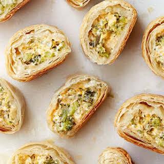 Spicy Broccoli-Cheddar Roll-Ups.