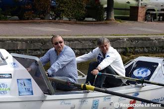 Photo: Christophe TIOZZO rame avec Charles Baptême Rameur de l'exploit à Pantin 03.05.12 PHOTO ©BRUNO DES GAYETS