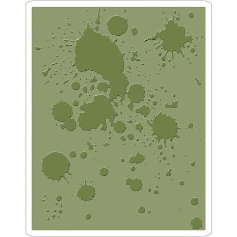 Tim Holtz Sizzix Texture Fades Embossing Folders - Ink Splats