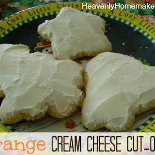 Orange Cream Cheese Cut-Outs