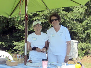 Photo: Nancy and Grace ably run tournament operations