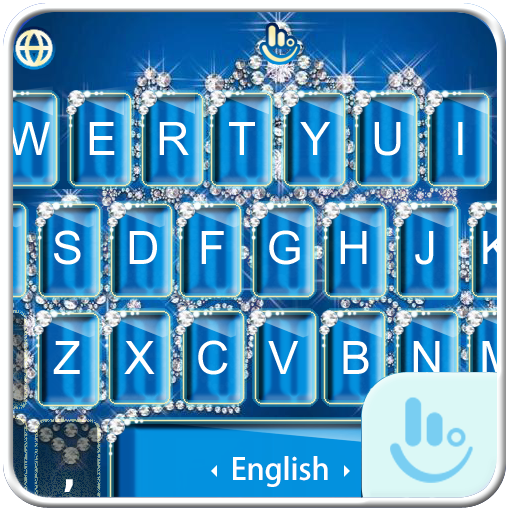 Blue Diamond Princess Keyboard Theme