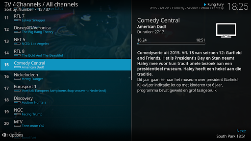 Kodi 18.5 screenshots n 2