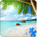Beach LWP + Jigsaw Puzzle icon