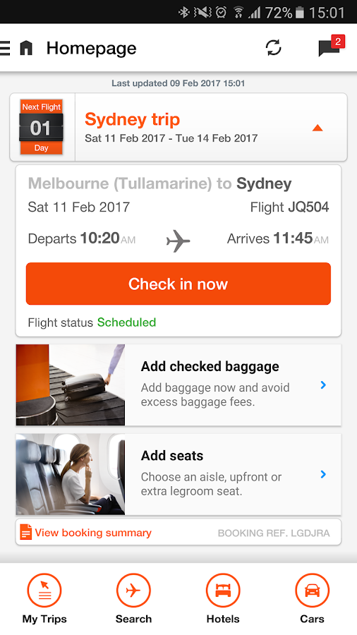Jetstar- screenshot
